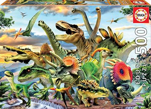 Educa Borras 17961 500 Dinosaurier Puzzle, Multicolor