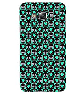 Printvisa Green Heart Pink Polka Dot Pattern Back Case Cover for Samsung Galaxy Grand Max G720