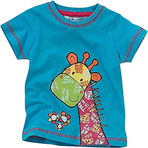 Animal Crazy Girls Cute Giraffe Short Sleeved T-Shirt - Jade