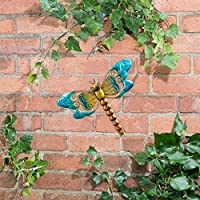 Metallic Dragonfly Wall Art with Jewels decoration will brighten up your garden - Dragonfly(Blue) from Scotrade
