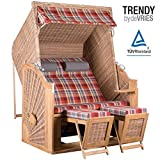 STRANDKORB TRENDY PURE CLASSIC XL SUN TEAK GRISEUM DESSIN 429