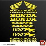 Stickers Honda CBR 1000RR Fireblade–amarillo–CBR 1000RR Fireblade, tabla de 16adhesivos, adhesivos, adhesivos, GT-DESIGN