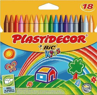 Plastidecor Bic estuche 18 lápices