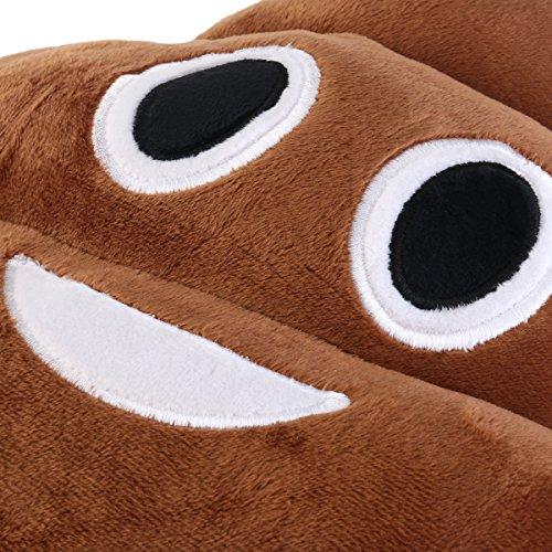BESTOMZ Rundes Kackhaufen Plüsch Kissen Spielzeug, 35 x 35 x 10 cm (Kackhaufen Emoticon) (Kackhaufen Emoticon) - 3