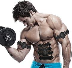 Elettrostimolatore Muscolare Trainer,EMS Trainer Tonificante Cintura Addominale Muscle Toner Elettronico per Portatile ABS Stimolatore Addome Braccio Gambe Waist Glutei Massaggi attrezzi Uomo Donna