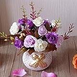 XIN HOME Miniteiche Simulation Knstliche Blumen Fake Anzug Home Dekorationen Couchtisch Tisch Vase Mbel