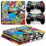 #7: Elton New Hoonigan Theme 3M Skin Sticker Cover for PS4 Pro Console and Controllers