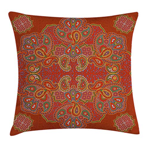 shizh Dekokissen KissenbezugMarokkanischer persischer Entwurfs-orientalischer rechteckiger Paisley-Blumendruck Pillowcase 45x45cm (Die Persische Karte)