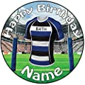 "Personalised Full Colour Bath Rugby Icing Cake Topper - 8"" (20cm) Pre-Cut Circle by AK Gifts"