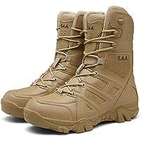 YU-S Chaussures de randonnée Outdoor High Top Desert Brown Antidérapante Chaussures terrestres de l'homme Bottes de…