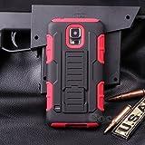 Cocomii Robot Armor Galaxy S5 Mini Hülle [Strapazierfähig] Gürtelclip Ständer Stoßfest Gehäuse [Militärisch Verteidiger] Ganzkörper Case Schutzhülle for Samsung Galaxy S5 Mini (R.Red)