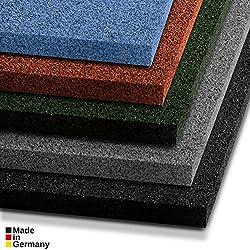 Tapis anti chute etm® Play-Protect Plus en 5 coloris Made in Germany | SET de 2 pièces - épaisseur 22mm | amortit les chocs - usage outdoor | 100x50cm, vert