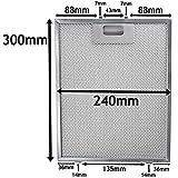 spares2go Universal-Dunstabzugshaube Metall Mesh Fett Filter für Küche Abluftventilator (Silber, 300x 240mm)