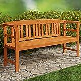 Deuba Gartenbank Rose 3-Sitzer | FSC®-zertifiziertes Eukalyptusholz | 150cm | Bank Holzbank Sitzbank Parkbank