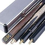 """Купить 3/4 Unisex """"The Pros""""Snooker Queue in Turnierqualität, Koffer and Extender T3SC8"""
