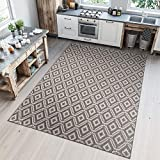 TAPISO Nature Tappeto Cucina Design Sala da Pranzo Moderno Beige Geometrico Marocchino Orientale Sisal Tappeto da Esterno 160 x 230 cm