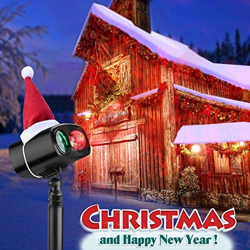 Projektionslampe LED Weihnachten Lichteffekt, Licht Projektor IP65 Wasserdicht innen außen, Mauer Dekoration Spinne Motion, 6 Stunden Timer Effektlic (Halloween Für 7 Wörter Gruselige)
