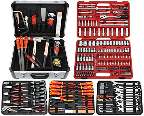 FAMEX 714-20 Werkzeugkoffer Komplettset TOP-Qualität mit 174-teiligem Steckschlüsselsatz
