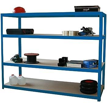 profi weitspannregal hxbxt 160x150x60 cm 4 b den 350 kg boden blau marke szagato. Black Bedroom Furniture Sets. Home Design Ideas