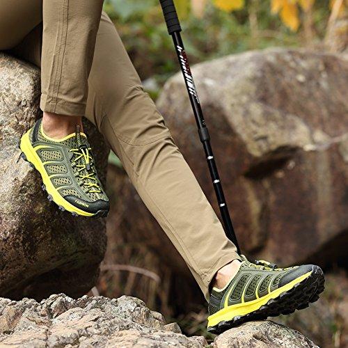 Casual Scarpe sportive uomo Anti-Slip Walking jogging Arrampicata Outdoor Fashion Sneaker GOMNEAR Verde