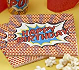Papierservietten 'Happy Birthday' - Pop Art Superhero-Party - Von Ginger Ray