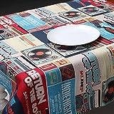 ZB Literatura Y Arte Mantel De Impresión Retro Manera Mesa De Tela Mesa De Café Restaurante De Paño ( Color : 1# , Tamaño : 120x120cm )