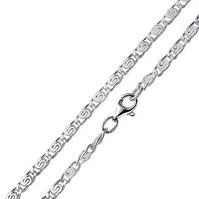 Panzerkette silber  MATERIA S-Panzerkette Silber 925 diamantiert - 3mm Halskette Damen ...