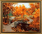 Diy oil painting, paint by number kits- Feeling Of Maple Leaf 16*20 inches.