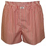 Best Jockey Mens Underwear - Jockey Striped Woven Men's Boxer Shorts, Red/White Small Review