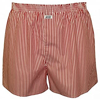 Jockey Striped Woven Men's Boxer Shorts, Red/White