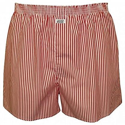 Jockey Striped Woven Men's Boxer Shorts, Red/White