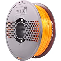 WOL 3D NEW PLA Pro+ with Improved formula (CRYSTAL ZEST ORANGE) 3D Filament Made in India