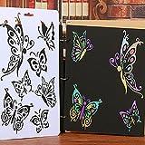 Papillon Pochoirs de peinture, Favolook DIY Craft Papillon Pochoirs Modèle Peinture Tampons Scrapbooking Album NEUF...