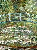 Cuadro sobre lienzo 30 x 40 cm: the japanese bridge de Claude Monet - cuadro terminado, cuadro sobre bastidor, lámina terminada sobre lienzo auténtico, impresión en lienzo