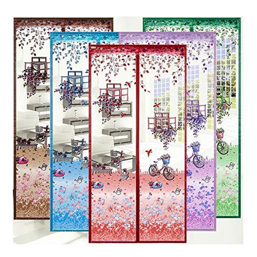 Zanzariera per zanzariera magnetica porta schermo tenda in rete per porte fino a 90 x 210 cm, facile da installare senza foratura,purple,100cm*210cm