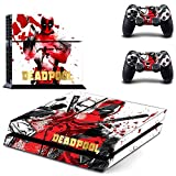 Playstation 4 + 2 Controller Design Sticker Protector Set - Deadpool (4) /PS4