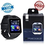 DZ09 Smart Watch with Bluetooth Dialer, Touchscreen Multi Function TF Card Support with Camera, Sim Card, Black Colour...