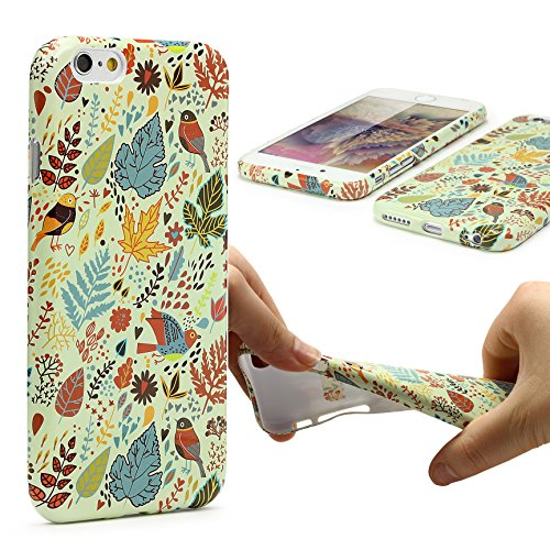 iPhone 6 / 6s Coque, Urcover TPU Silicone Housse Apple iPhone 6 / 6s Protection Étui Fleurs Motif Design 4 Téléphone Femme Smartphone Case Design 16