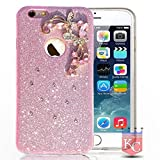 Best I Phone 6 Case For Girls - KC Sparkling Floral Flower Glitter Crystal Candy Soft Review