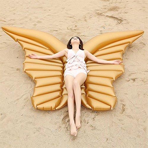 gels Wing Schmetterling Pool Float mit Schnellventilen Sommer Outdoor-Pool-Party für Erwachsene und Kinder , A , 250x180cm (Erwachsenen-angel Wings)