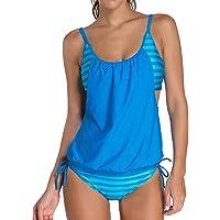 heekpek Costumi da Bagno Estate Tankini Donna Bikini Due Pezzi Plus Size Swimwear Righe delle Donne Allineate…