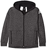 adidas Jungen Full Zip Kapuzen-Jacke, Stadium Heather/Black, 140