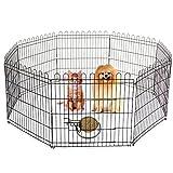 MultiWare Pet Play Pen Dog Puppy Animal Rabbit Run Cage Folding Fence 8