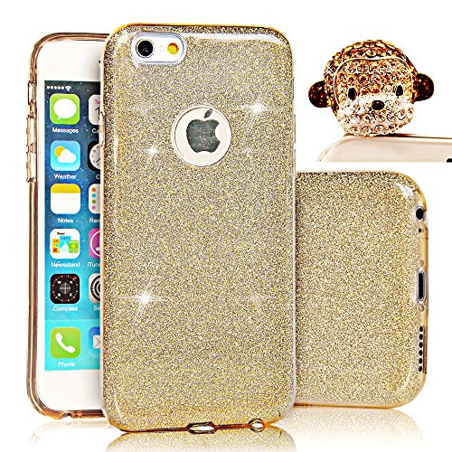 Custodia iPhone 6 plus Silicone,Case Cover per iPhone 6s plus in Silicone, Sunroyal® UltraSlim Glitter Bling Soft Morbido TPU Gel Silicone Protettivo Custodia Copertura Shell per Apple iPhone 6s plus iPhone 6 plus ( 5.5