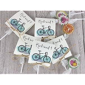 Fahrrad Einladungskarten zum Geburtstag inkl. Lollies