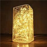 luz nocturna, natural de sal del Himalaya lámpara creativa Fuegos Árbol Plata noche luz lámpara de mesa noche Dormitorio Romántico calientes Ambiente Luz