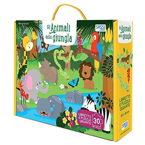 Gli animali della giungla. Ediz. a colori. Con puzzle