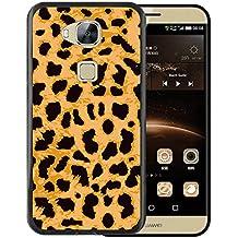 Funda Huawei GX8 / G8, WoowCase [ Huawei GX8 / G8 ] Funda Silicona Gel Flexible Leopardo, Carcasa Case TPU Silicona - Negro
