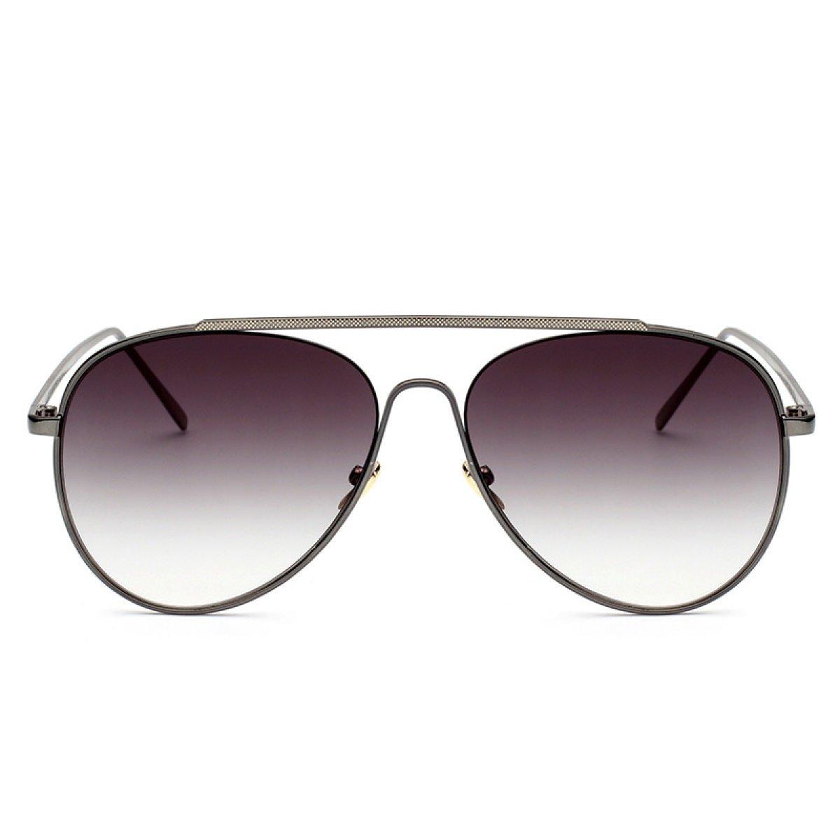 Wkaijc Yurt Mode Persönlichkeit Bequem Elegant Metall Große Kiste Sonnenbrille Fahrer-Sonnenbrille,B