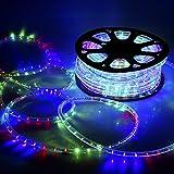 GreenSun LED Lighting 20M RGB LED Strip 720leds Ø13mm Band leiste IP54 Lichterschlauch Lichterkette Lichtschlauch Schlauch Licht für Außenbereich Innenbereich Party Weihnachten